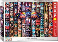 Eurographics Colors of the world Puzzle -  Canadian Totem Poles 1000 pieces NEW