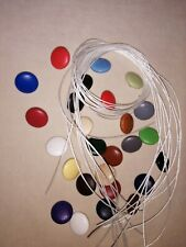 10X NO 30 WIRE LOOP BACK UPHOLSTERY BUTTONS 25 COLOURS OF FAUX LEATHER COVERED