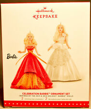 Hallmark: Celebration Barbie - Set of 2 -Inspired by 2013-14 - Keepsake Ornament