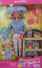 Gardening Fun Barbie & Kelly 1996 Doll Gift Set New!