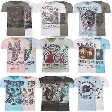 3977830897365c Larazé Herren T-Shirt Shirts V-Neck Baumwolle Print S-XXL