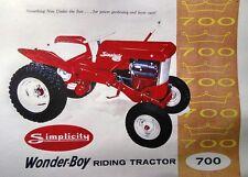 Simplicity 1959 COLOR Sales Catalog 700 Wonder-Boy Riding Lawn Garden Tractor