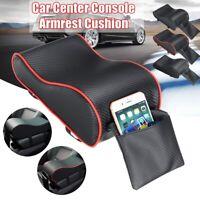 Universal Auto Car Armrest Pad Leather Cover Center Cushion Console Box Auto