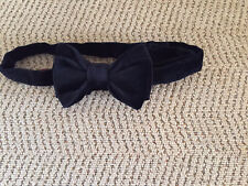 Mens Devils Advoctae Black Velvet Adjustable Bow Tie
