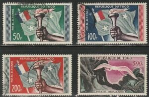 #C22-25 Tonga (Toga) Flag and Torch / Great White Egret Airmail Set of 1957