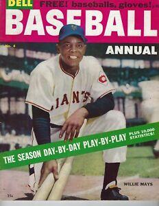 1955 Dell Baseball Annual magazine Willie Mays, New York Giants GOOD