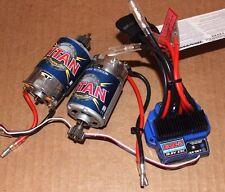 Traxxas 1/10 E-Revo 16.8V WATERPROOF EVX-2 ESC & 2 TITAN 550 MOTORS  Fwd Rev 36