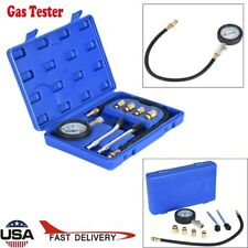 Cylinder Compression Tester Test Tool Kit Professional Mechanics Gas Engine USA