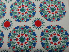 "America vintage  Fabric Heart circle 36""x 36""  medium weight#153"