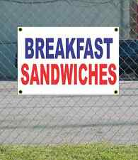 2x3 BREAKFAST SANDWICHES Red White & Blue Banner Sign NEW Discount Size & Price