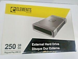 WD Elements 250 GB External Hard Drive - New in Box