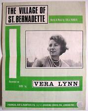 RARE 3 pagina FOGLIO DI MUSICA & PAROLE il villaggio di San Bernadette da EULA Parker