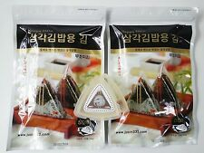 (100 Sheets + Mold) Samgak Triangle Kimbap Gimbap Set Korean Seaweed Laver Nori
