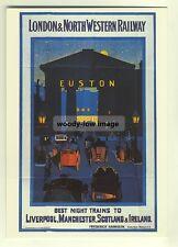ad2805  -  L&NWR -  Best Night Trains - Euston  -  modern poster advert postcard