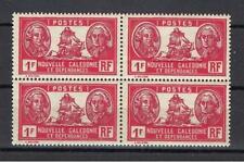 New Caledonia 1928 Sc# 159 Admiral Bougainville & La Perouse 1fr block 4 MNH
