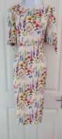Womens Phase Eight midi  Dress new with tags size 12 cream flowers pencil party