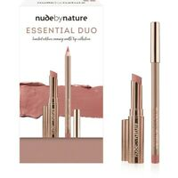 Nude By Nature Essential Duo Defining Lip Pencil&Creamy Matte Lipstick 03,04 New