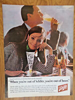 1966 Schlitz Beer Ad  When your out of Beer Shall I tell Hime or let him find