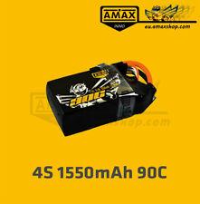 AMAXinno LiPo Akku 4S 14,8V 1550mAh 90C XT60 Battery FPV Racing Drone Baterrie