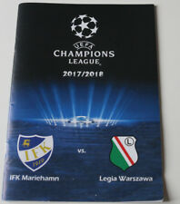 Programme for collectors CL IFK Mariehamn Legia Warszawa Finland Poland