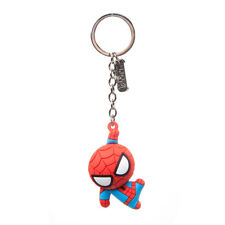 Marvel Comics Spider-man Character 3d Pendant Rubber Keychain
