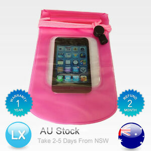 Pink Waterproof Dry Bag Pouch Case Protector For Cell Phone MP3 Wallet Blue PVC