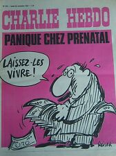 CHARLIE HEBDO No 210 NOVEMBRE 1974 REISER PANIQUE CHEZ PRENATAL