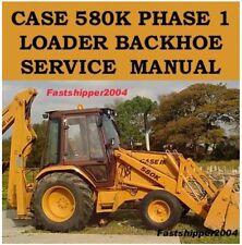 3 Case Phase 1 580 K Loader Backhoe 580K Service Manuals Parts Catalog CK King