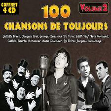 Coffret 4 CD 100 chansons de toujours - Vol. 2