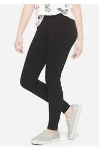 JUSTICE Black Full Length Leggings Size 14 Plus💕💕💕