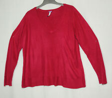 RASPBERRY RED/HOT PINK JUMPER LADIES CASUAL TOP BHS SIZE 18