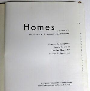 """1952 Mid-Century Modern Progressive Architecture Book """"Homes"""" Neutra Stone et al"""