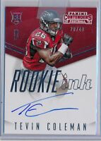 TEVIN COLEMAN - 2015 Contenders Rookie Ink SP AUTO /49 - Falcons RC