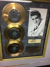 "Elvis Presley 24kt Gold Plated Limited Edition ""Love Songs"" Framed Collectible"