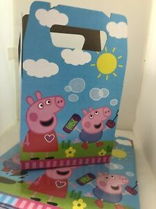 Peppa Pig Party Favor Treat Box *10Ct* Loot Goody Candy Box