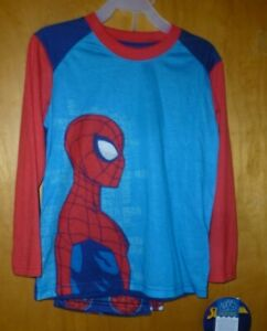 New Boy XS (4/5)  Spiderman Pajamas 2 piece set Shirt Pants