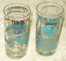 Vintage NATIONAL PARKS GLASS TUMBLERS - Set of Two PAINTED DESERT & THE GRAND CA