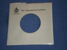 "THE LINGUAPHONE INSTITUTE - BESPOKE RECORD SLEEVE FOR 7"" SINGLES - VG+"