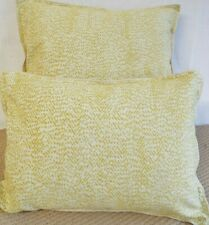 PAIR OF 15 X 20 INCH  FILLED CUSHIONS FOR £8.99 GOLD ON CREAM