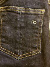 Rag and Bone Stretch Cotton Dark Blue  Denim Skinny Jeans Women Size 26