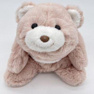 GUND Snuffles Bear Curved Sitting Plush Love Snuggle Pink Rose 6050370