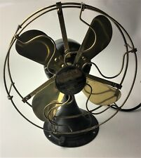 Antique Colonial 8-inch Brass Electric Fan-  Ca.1909