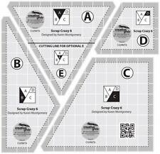 Creative Grids Scrap Crazy 6 Templates Quilt Ruler - CGRMT6