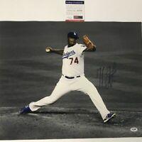 Autographed/Signed KENLEY JANSEN Los Angeles LA Dodgers 16x20 Photo PSA/DNA COA