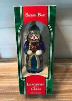 Vintage Santa's Best Hand Blown European Style Glass Nutcracker Ornament 1995