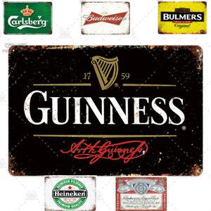 Pub Sign Guinness Budweiser Home Bar Sign Man Cave Pub Decor Bar Decor