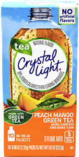 18 10-Packet Boxes Crystal Light Peach Mango Green Tea On The Go Drink Mix