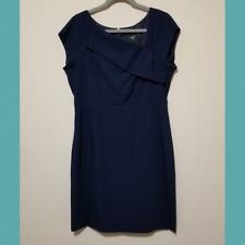 J. Crew Suiting Women's Navy Sheath Dress   Size 12   Career Business Formal