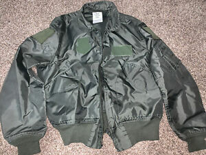 US Air Force Green Nomex Lightweight Flight Jacket Large 42-44 (used)