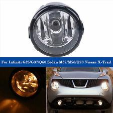 Fog Lamp Light H11 New For Infiniti G25/G37/Q60 Sedan M37/M56/Q70 Nissan X-Trail
